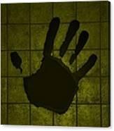 Black Hand Yellow Canvas Print
