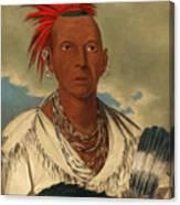 Black Hawk. Prominent Sauk Chief. Sauk And Fox Canvas Print