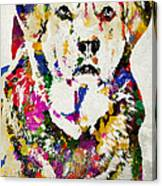 Black Lab Watercolor Art Canvas Print