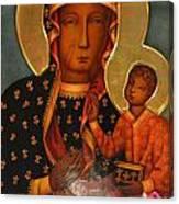 Black Madonna Of Czestochowa Canvas Print