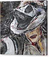 Black Or White Canvas Print
