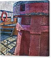 Black Pearl Deck Canvas Print