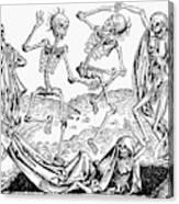 Black Plague, 1493 Canvas Print