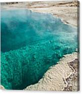Black Pool In West Thumb Geyser Basin Canvas Print