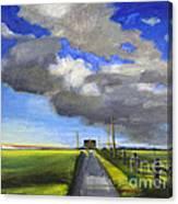 Black Road Canvas Print