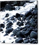 Black Rocks Along The Puna Coast Canvas Print