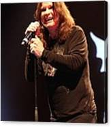 Black Sabbath - Ozzy Osbourne Canvas Print