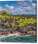 Black Sand Beach Maui Hawaii Canvas Print