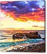 Black Sand Sunset Canvas Print