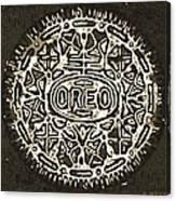 Black Sepia Oreo Canvas Print