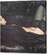 Black Silk Canvas Print