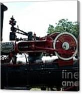 Black Steam Engine Canvas Print
