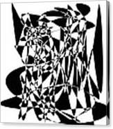 Black Stroke Canvas Print