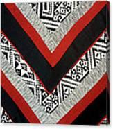 Black Thai Fabric 01 Canvas Print