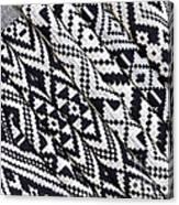 Black Thai Fabric 03 Canvas Print