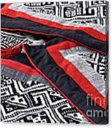 Black Thai Fabric 04 Canvas Print