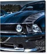 Black Truefiber Mustang Canvas Print