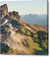 Black Tusk Mountain And Helm Lake Canvas Print