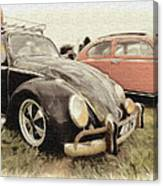 Black Vw Canvas Print