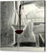 Black White And Red Wine Canvas Print
