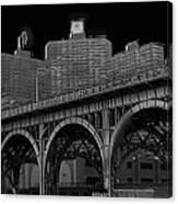 Black White City Canvas Print