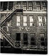 Blackened Fire Escape Canvas Print