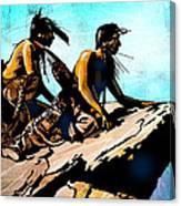 Blackfeet Scouts Canvas Print