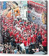 Blackhawks Celebration Stage Canvas Print
