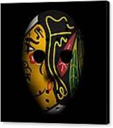 Blackhawks Goalie Mask Canvas Print