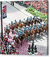 Blackhawks Parade Mtd Police Canvas Print