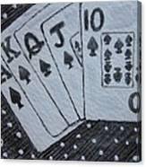 Blackjack Hand Canvas Print