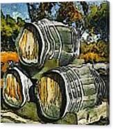 Blackjack Winery Wine Barrels Canvas Print