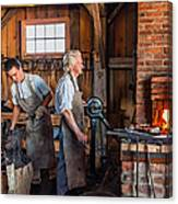 Blacksmith And Apprentice 2 Canvas Print