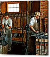 Blacksmith And Apprentice Canvas Print