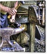 Blacksmith Working Iron V1 Canvas Print