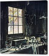 Blacksmiths Workbench - One October Afternoon Canvas Print