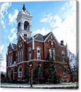 Blairsville Courthouse At Christmas Canvas Print
