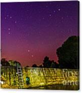 Blanco River Dam At Night - Texas Hill Country Blanco Texas Canvas Print