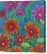 Blanket Flowers And Cosmos Canvas Print