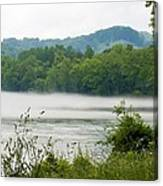 Blanket Of Fog On Clinch River  Canvas Print