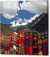 Blankets-andes Canvas Print