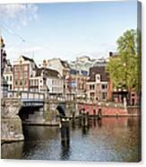 Blauwbrug In Amsterdam Canvas Print