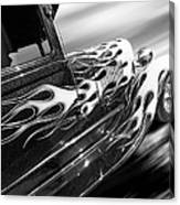 Blazing A Trail - Ford Model A 1929 In Black And White Canvas Print