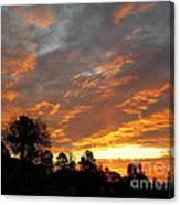 Blazing Christmas Sunset Canvas Print