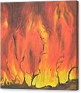 Blazing Fire Canvas Print