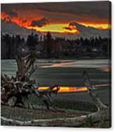 Blazing Sunset Canvas Print