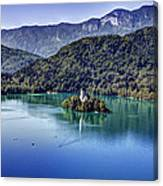 Bled Misty Island Canvas Print