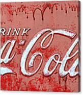 Bleeding Coke Red Canvas Print