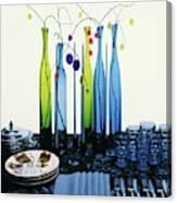 Blenko Glass Bottles Canvas Print