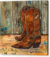 Bless My Boots Canvas Print